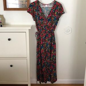 Gap floral wrap dress